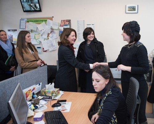 BARONESS SUSAN WILLIAMS OF TRAFFORD VISITS EZRA UMARPEH HEAD OFFICE