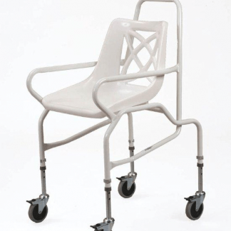 Shower chair on wheels